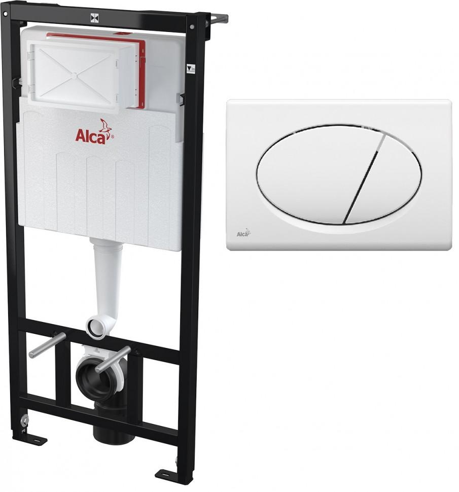 Скрытая система инсталляции для сухой установки (для гипсокартона) , клавиша M70 AlcaPlast Sadromodul AM101/11203:1RUSSETM70