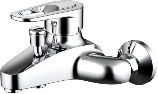 Фото - Смеситель для ванны Bravat Loop F6124182CP-01-RUS смеситель для ванны bravat art короткий излив бронза f675109u b1 rus