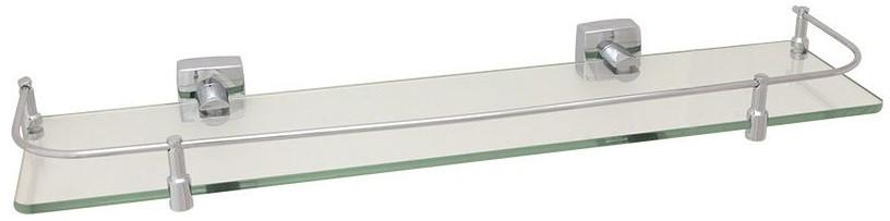 Полка стеклянная 60 см Fixsen Kvadro FX-61303B фото