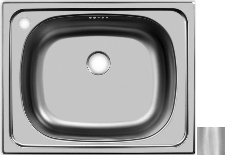 Кухонная мойка матовая сталь Ukinox Классика CLM500.400 --T6C 1C фото