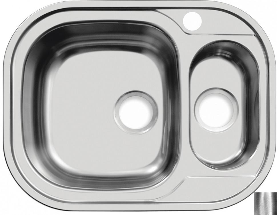 Кухонная мойка полированная сталь Ukinox Галант GAP628.488 15GT8K 2L