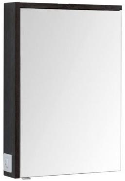 Зеркальный шкаф 59,1х85 см эвкалипт мистери/белый глянец R Aquanet Фостер 00202060