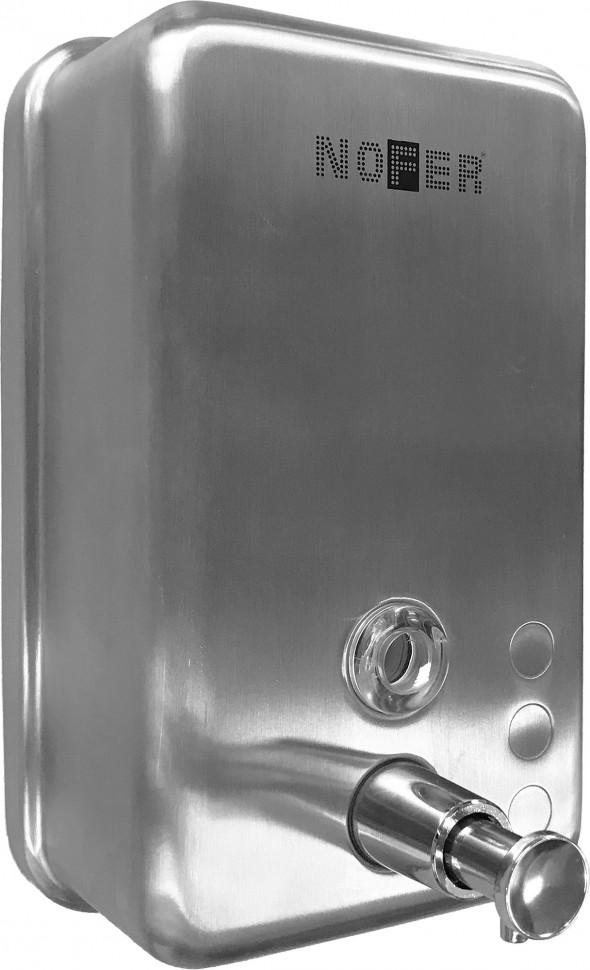 Диспенсер для мыла 1200 мл матовый хром Nofer Inox 03041.S диспенсер для мыла axentia graz eckig квадрат 131077 черный 275 мл
