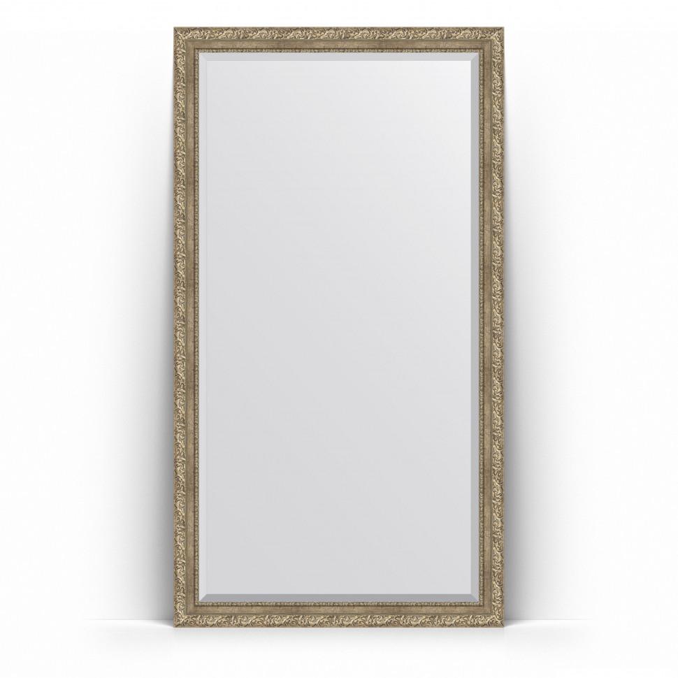Фото - Зеркало напольное 110х200 см виньетка античное серебро Evoform Exclusive Floor BY 6153 зеркало напольное с фацетом evoform exclusive floor 115x205 см в багетной раме виньетка серебро 109 мм by 6176