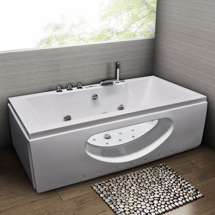 Акриловая гидромассажная ванна 180х90 см Grossman GR-18090