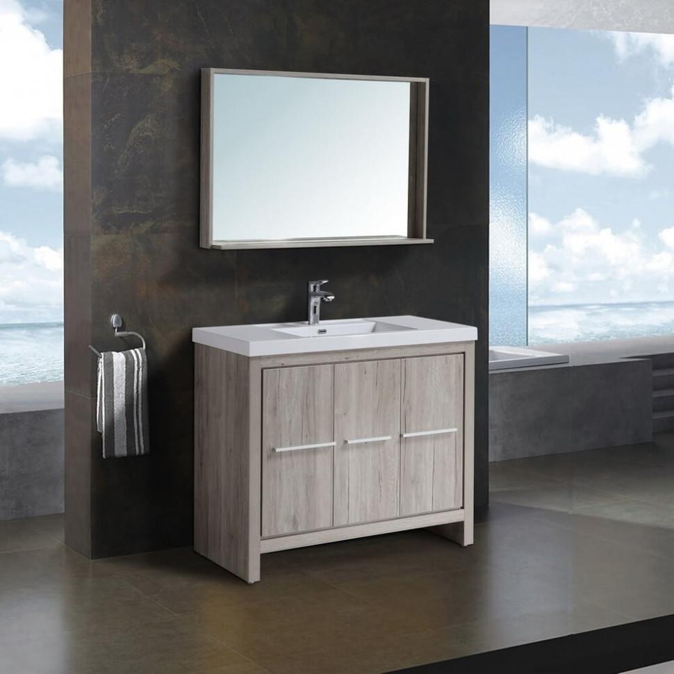 Комплект мебели дуб серебристый 100 см Black & White Country 100SK00 фото