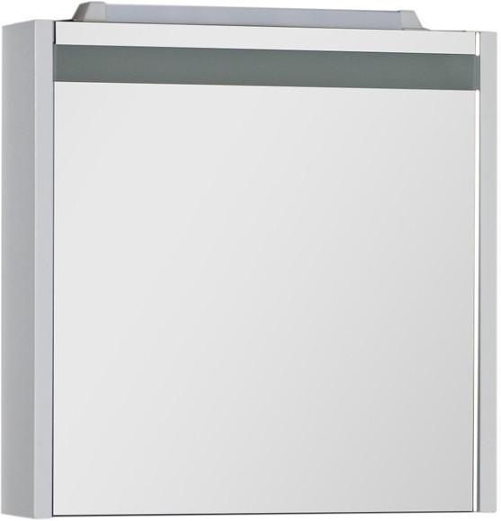 Зеркальный шкаф 59,2х60 см с подсветкой белый Aquanet Лайн 00164932 зеркальный шкаф 65х88 1 см белый aquanet стайл 00179922