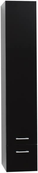Пенал подвесной черный Aquanet Верона 00175391