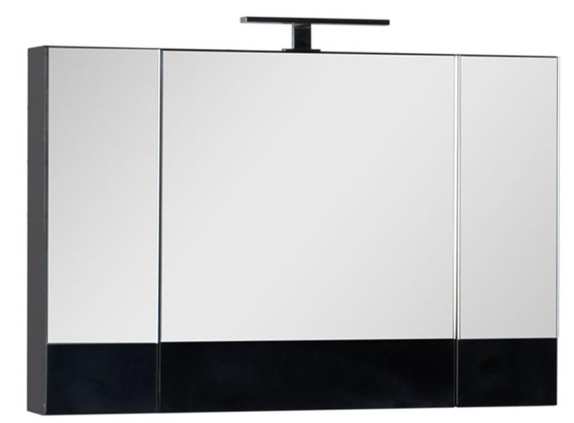Зеркальный шкаф 100х67 см черный Aquanet Нота 00168879