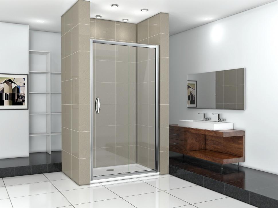 Душевая дверь 110 см Good Door Infinity WTW-110-C-CH прозрачное душевая дверь good door galaxy wtw 120 c ch