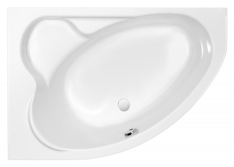 Акриловая ванна 153х100 см L Cersanit Kaliope WA-KALIOPE*153-L акриловая ванна cersanit joanna 160х95 l белая