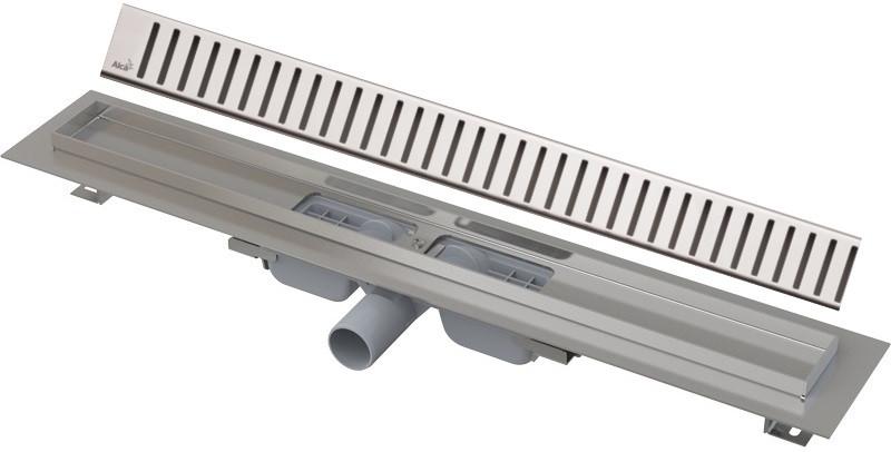 цена на Душевой канал 844 мм нержавеющая сталь AlcaPlast APZ101 Pure APZ101-850 + PURE-850M
