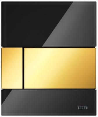 Смывная клавиша для писсуара TECE TECEsquare черный/золотой 9242808 фото