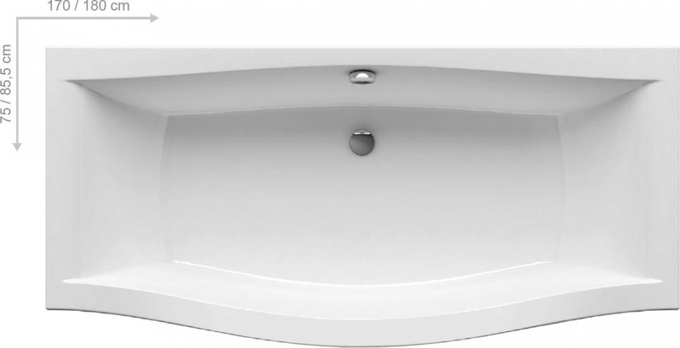 Купить со скидкой Акриловая ванна Magnolia 170x75 Ravak C501000000