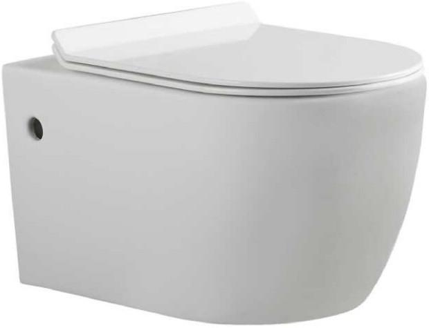 Фото - Подвесной безободковый унитаз с сиденьем микролифт Bravat Gina C21172UW-ENG смеситель на борт ванны bravat gina f565104c 2 eng