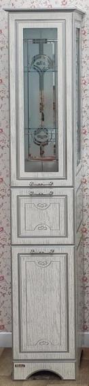 Фото - Пенал напольный белый серебряная патина R Sanflor Адель H0000000556 пенал напольный белый r sanflor анкона c0000002058