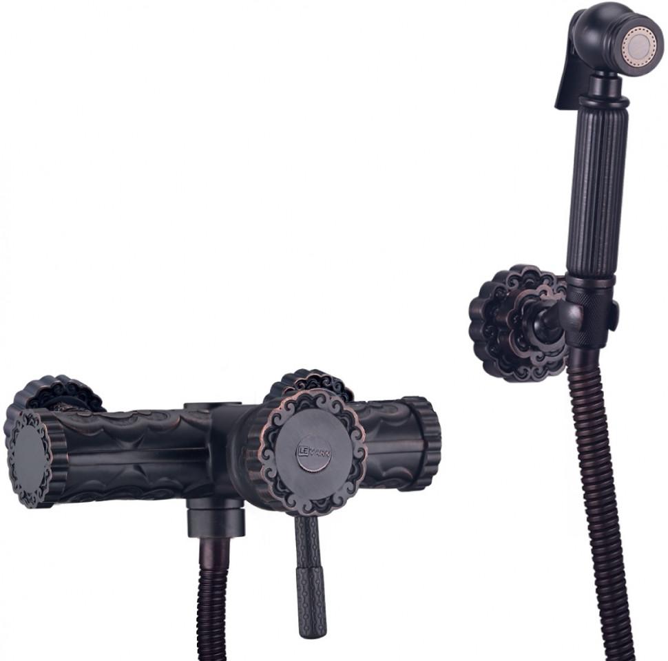 Смеситель с гигиеническим душем Lemark Jasmine LM6618ORB встраиваемый смеситель с гигиеническим душем lemark jasmine lm6619orb