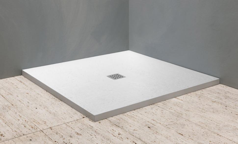 Душевой поддон из литого мрамора 90х90 см Kolpa San Hora tile stone white random cartoon ceramic tile decal 1pc