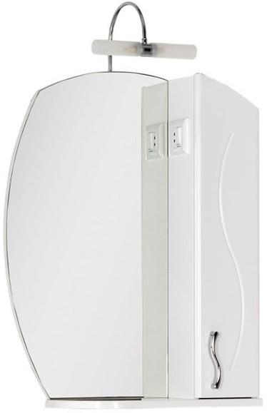 Зеркальный шкаф 61,4х80,9 см белый Aquanet Моника 00186773