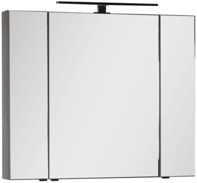 Зеркальный шкаф 100х85 см дуб антик Aquanet Эвора 00182998