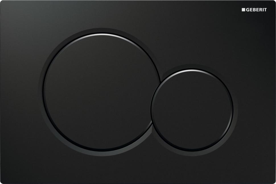 Смывная клавиша Geberit Sigma01 черный для двойного смыва 115.770.DW.5 клавиша для бачка devon
