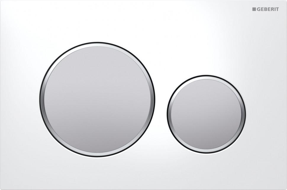 Смывная клавиша Geberit Sigma20 белый/матовый хром/матовый хром для двойного смыва 115.882.KL.1 цена и фото
