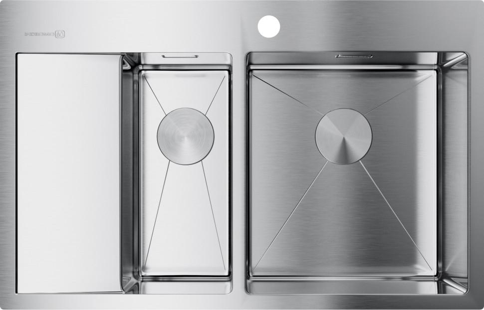 Кухонная мойка нержавеющая сталь Omoikiri Akisame 78-2-IN-R кухонная мойка omoikiri sagami 79 2 in нержавеющая сталь 4993733