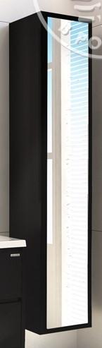 Шкаф-колонна подвесная Римини черный Акватон1A134603RN950 шкаф колонна подвесная америна тёмно коричневая aquaton 1a135203am430