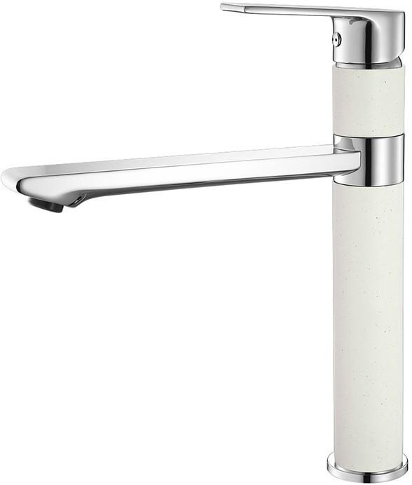 Смеситель для кухни хром/белый IDDIS Edifice ED5WBSGI05 смеситель для ванной iddis edifice edisbl2i10
