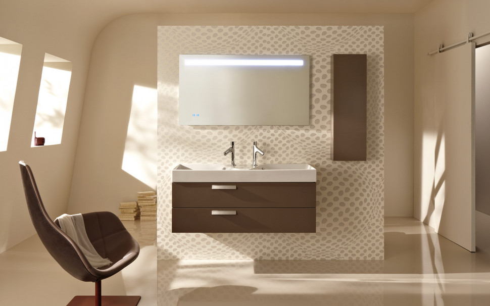 Зеркало со светодиодной подсветкой и часами 105*65 см Jacob Delafon Replay EB1162-NF