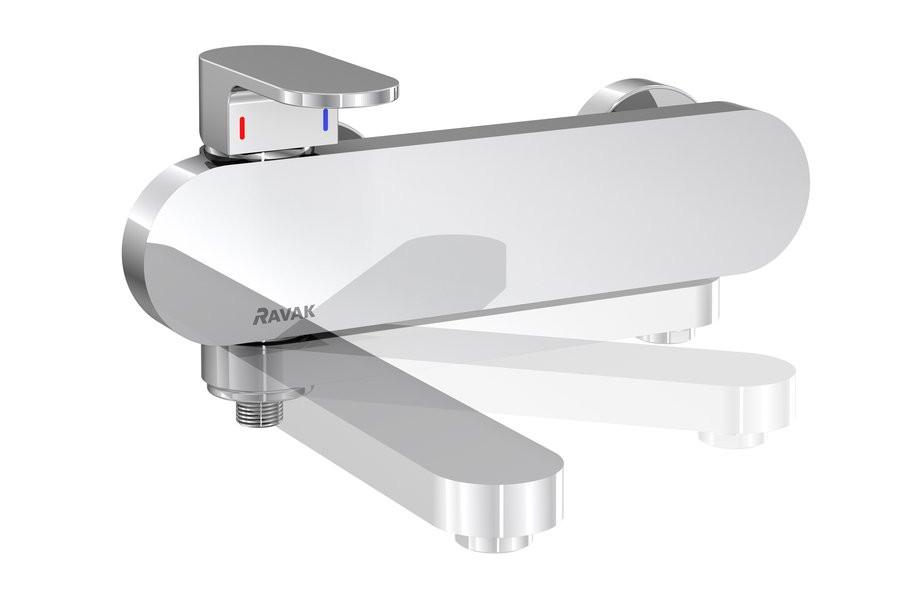 Смеситель для ванны Ravak Chrome CR 022.00/150 смеситель на борт ванны ravak chrome cr 025 00 на 4 отверстия каскадный x070073