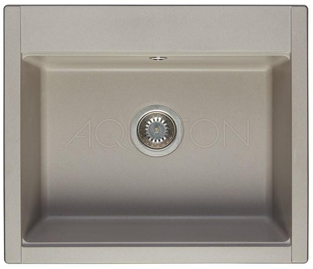 Кухонная мойка Акватон Делия серый шелк 1A715232LD250 кухонная мойка weissgauff quadro 650 eco granit серый шелк
