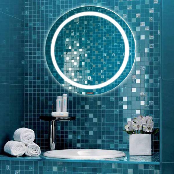 Зеркало 75х75 см Comforty Круг 00004140525 зеркало шкаф comforty модена 75 с
