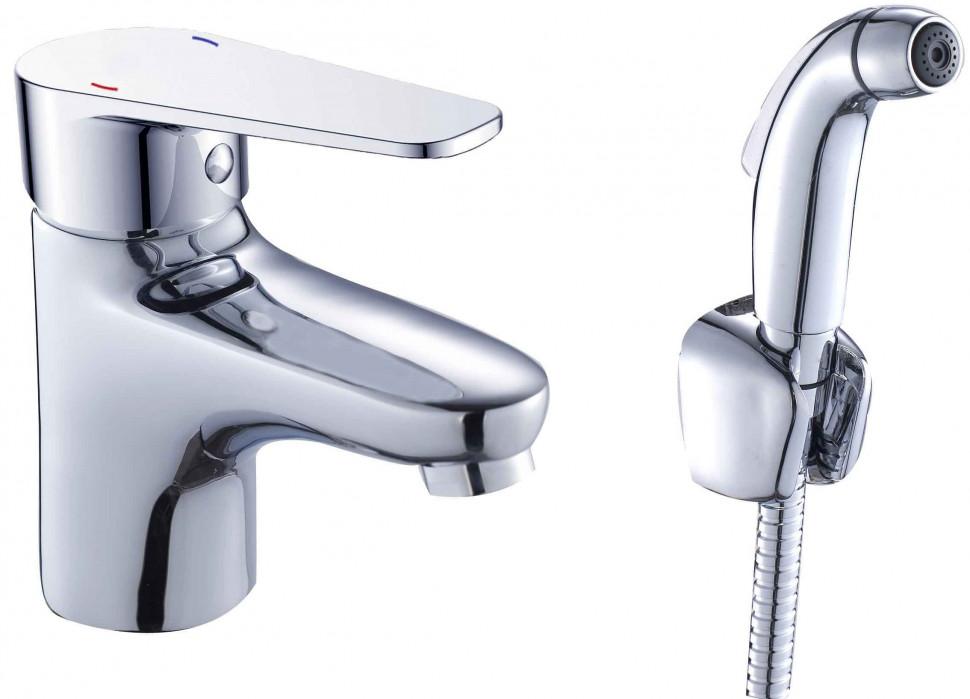 Смеситель для раковины с гигиеническим душем Orange Otto M22-022cr душевая система orange otto m22 911cr