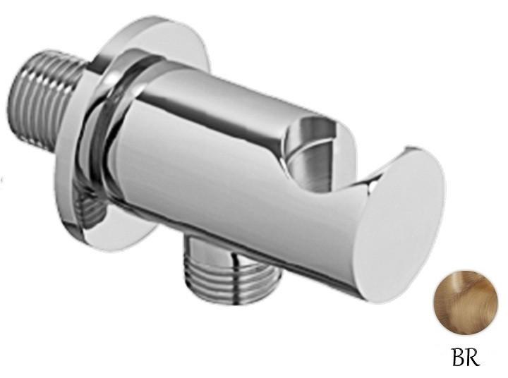Шланговое подключение с держателем ручного душа бронза Cezares CZR-AI4-02 кольцо отверстия перелива раковины cezares бронза czr rng br