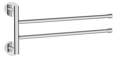 Полотенцедержатель двойной поворотный 36 см Rush Bianki BI76522 фото