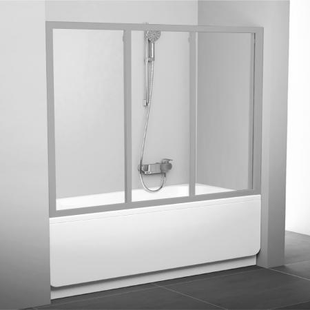 Шторка для ванны Ravak AVDP3 - 170 сатин Transparent 40VV0U02Z1 шторка для ванны ravak avdp3 170 белый transparent 40vv0102z1