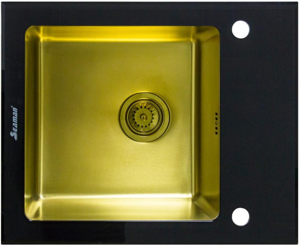 Кухонная мойка Seaman Eco Glass SMG-610B-Gold.B