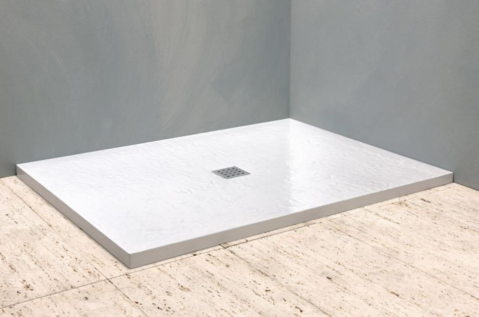 Душевой поддон из литого мрамора 120х90 см Kolpa San Hora stone white