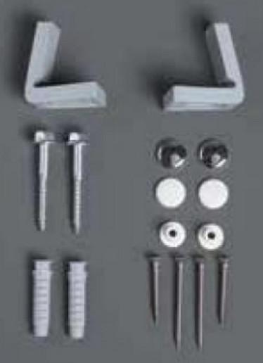 Комплект горизонтальных крепежей для унитаза/биде с колпачками цвета хром и белый Simas F88