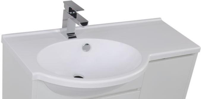 Раковина Aquanet Лайн 90 aquanet шкаф с зеркалом aquanet лайн 90 камерино l