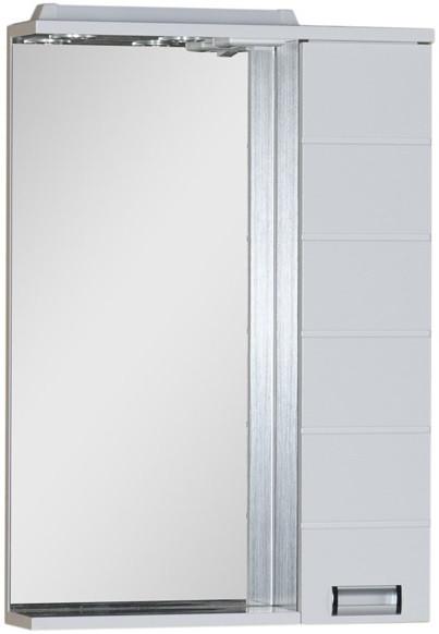 Зеркальный шкаф 60х87 см с подсветкой белый/венге Aquanet Сити 00151662 зеркальный шкаф 90х87 см с подсветкой венге aquanet донна 00169179