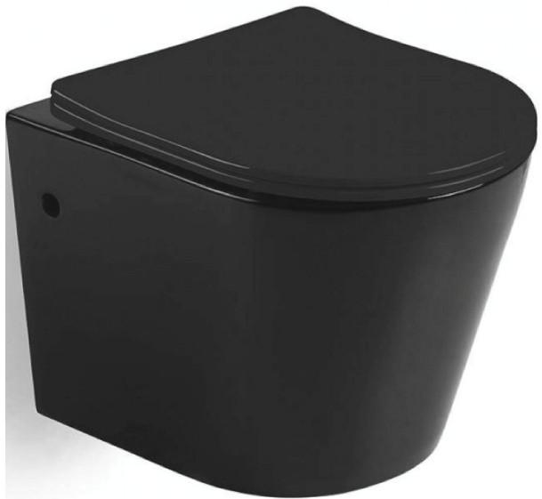 Фото - Подвесной безободковый унитаз с сиденьем микролифт Mira MR-B4836B унитаз подвесной belbagno amanda безободковый с сиденьем микролифт bb051chr bb051sc