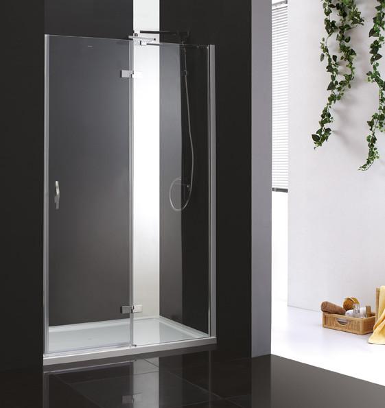 Душевая дверь распашная Cezares Bergamo 90 см прозрачное стекло BERGAMO-W-B-12-90-C-Cr-R фото