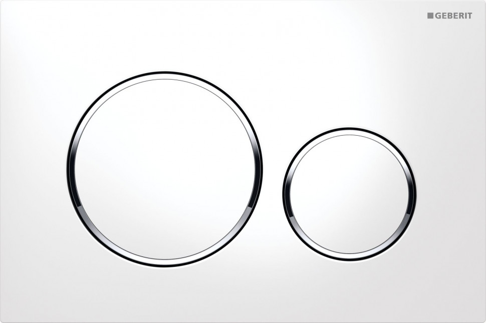 Смывная клавиша Geberit Sigma20 белый/глянцевый хром/белый для двойного смыва 115.882.KJ.1 цена и фото