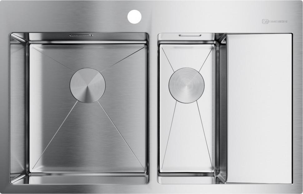 Кухонная мойка нержавеющая сталь Omoikiri Akisame 78-2-IN-L недорого