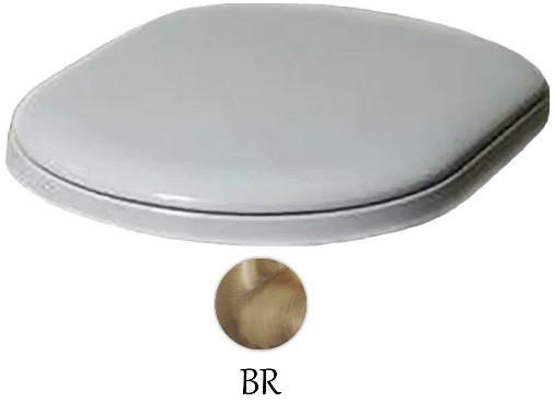 Сиденье для унитаза с микролифтом белый/бронза Azzurra Charme CHA1800/Fbi/br фото