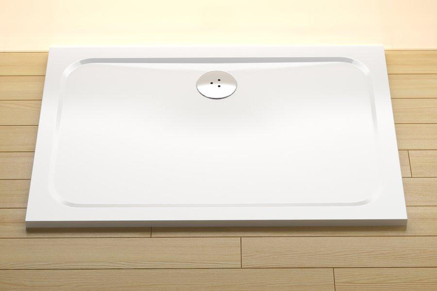 Душевой поддон из литого мрамора Ravak Gigant Pro 100 x 80 Chrome XA04A401010 поддон ravak gigant pro chrome 120 x 90 белый