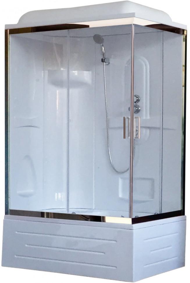 Душевая кабина 120х80х217 см Royal Bath RB8120BP1-T-CH-L прозрачное