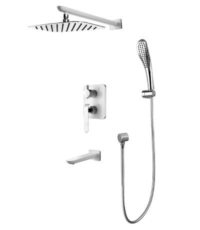 Смеситель для ванны и душа встраиваемый Lemark Melange LM4922CW смеситель для ванны и душа lemark contour lm7451c хром